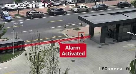 Netcam videoovervåkning line crossing linjekryssing