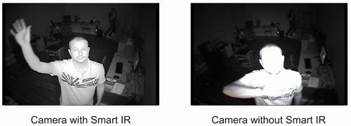Netcam sammenligning Smart IR med vanlig IR
