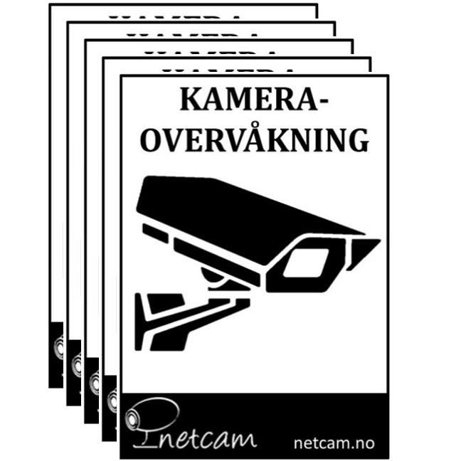 Dobbelsidig kameramerke Netcam -hvitt-A7-5stk