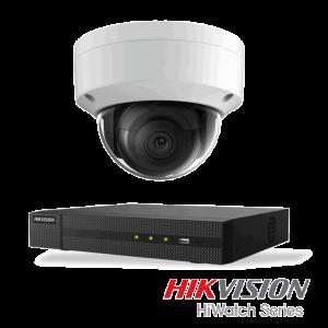 Netcam Hikvision pakke med 1 kamera IP 8 megapixel & opptaker