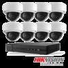 Netcam Hikvision pakke med 8 kameraer IP 8 megapixel & opptaker