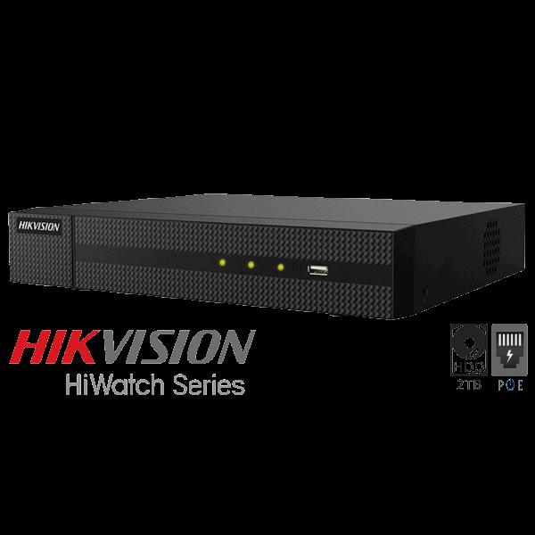 Netcam Hikvision 8MP IP 2TB NVR opptaker for 8 kameraer