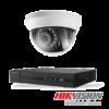 Hikvision Netcam pakke med 1 kamera 1 megapixel innendørs