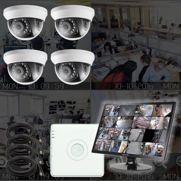 Analogt overvåkningssystem med 1MP kamera