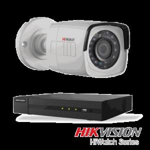 Netcam Hikvision HiWatch pakke med 1 kamera 2 megapixel utendørs