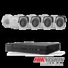 Netcam Hikvision HiWatch pakke med 4 kameraer 2 megapixel utendørs