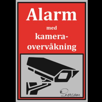 Netcam kameraskilt SKI-ALU-A5-ROD-NET