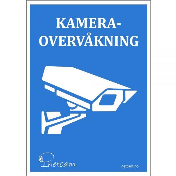 Netcam Kamera Skilt A5 A7 SKI-ALU-A4-BLA-NET