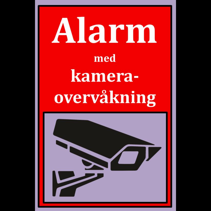 Dobbelsidig alarmmerke for vinduer vinyl rødt A7 10x7 cm