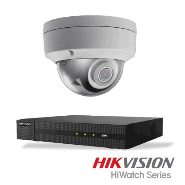 Netcam Hikvision pakke med 1 kamera IP 4 megapixel & opptaker