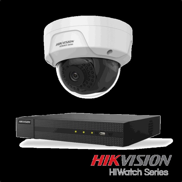 Netcam Hikvision pakke med 1 kamera IP 2 megapixel & opptaker