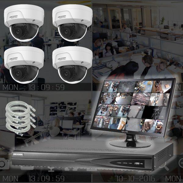 Netcam 2 megapixel 4 x IP-kamera pakke HWI-D121H-4