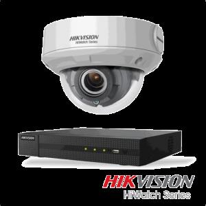 Netcam Hikvision pakke med 1 kamera IP 4 megapxixel motorisert zoom & opptaker