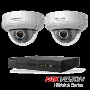 Netcam Hikvision pakke med 2 kameraer IP 4 megapxixel motorisert zoom & opptaker