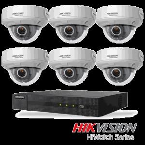 Netcam Hikvision pakke med 6 kameraer IP 4 megapxixel motorisert zoom & opptaker