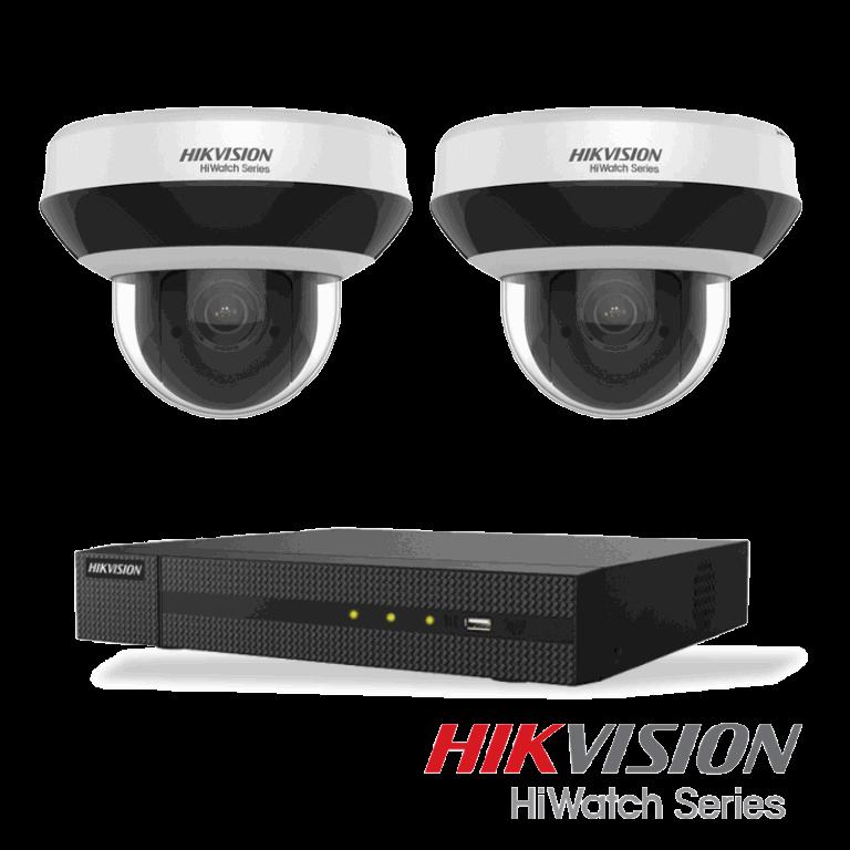 Netcam Hikvision pakke med 2 kameraer 4 megapixel strybart zoom