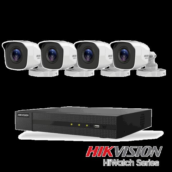 Hikvision Netcam pakke med 4 kameraer 4 megapixel
