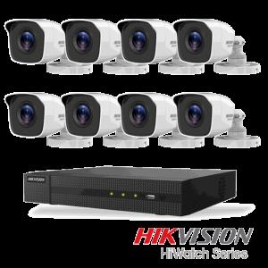 Hikvision Netcam pakke med 8 kameraer 4 megapixel