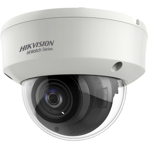 Netcam HiWatch Hikvision 5MP dome analog motorisert zoom HD-TVI kamera