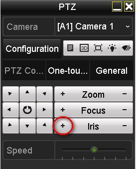 Netcam Hikvision PTZ-menu
