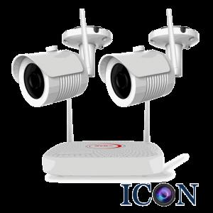 Netcam trådløs Wi-Fi 2MP pakke 2 kameraer og opptaker 1TB