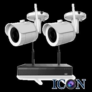 Netcam trådløs Wi-Fi 5MP pakke 2 kameraer og opptaker 1TB