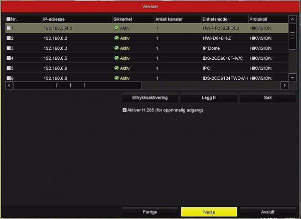 Netcam Hikvision NVR08 kameraer med