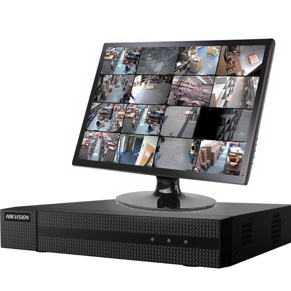 Netcam Hikvision NVR med skjerm