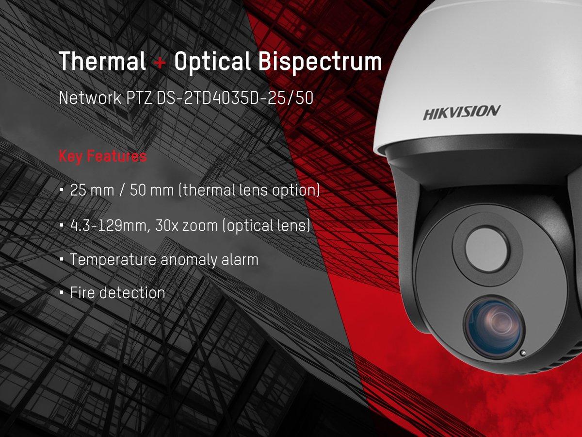 Netcam Hikvision Termisk kameraDS-2TD4035D-25