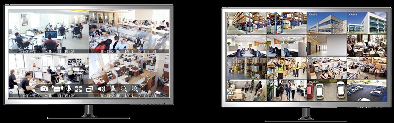 Netcam 2 skjermer
