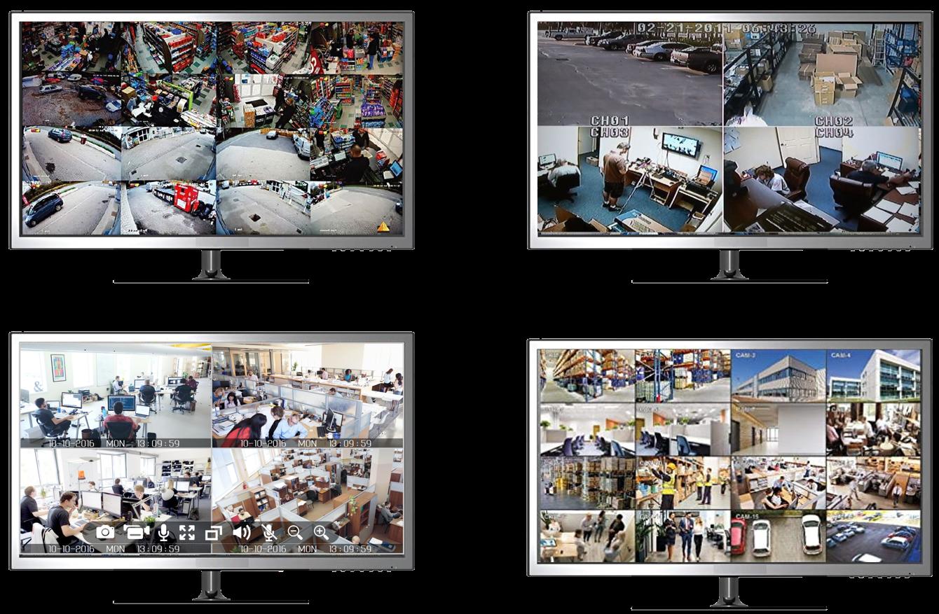 Netcam 4 skjermer