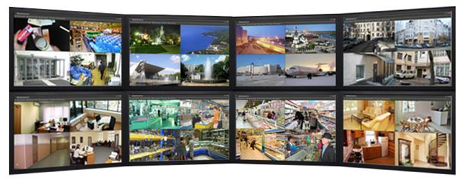 Netcam Hikvision video wall