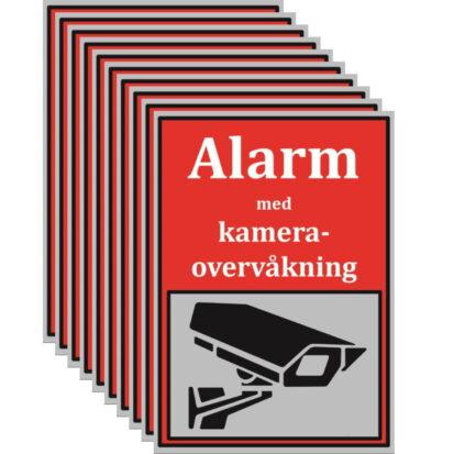 Netcam alarmskilt-10stk