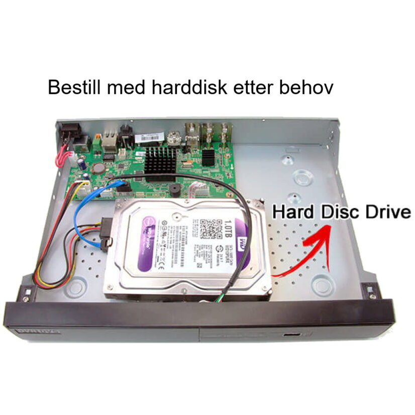Bestill med forhåndsinstallert harddisk etter behov (illustrasjonsbilde)
