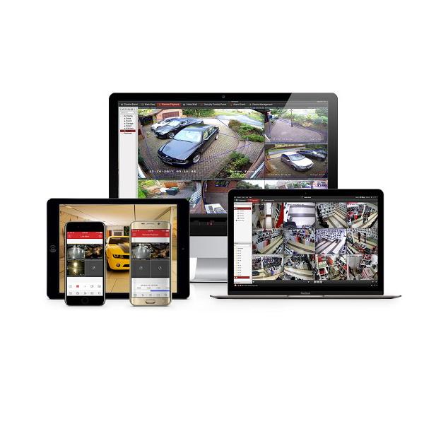 Tilgang til kameraene på mobiltelefon, nettbrett og PC