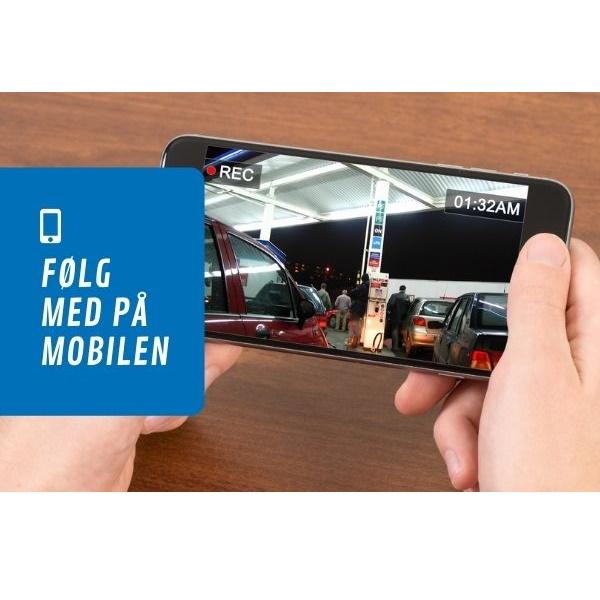Tilgang til kameraene i egen app på mobiltelefon