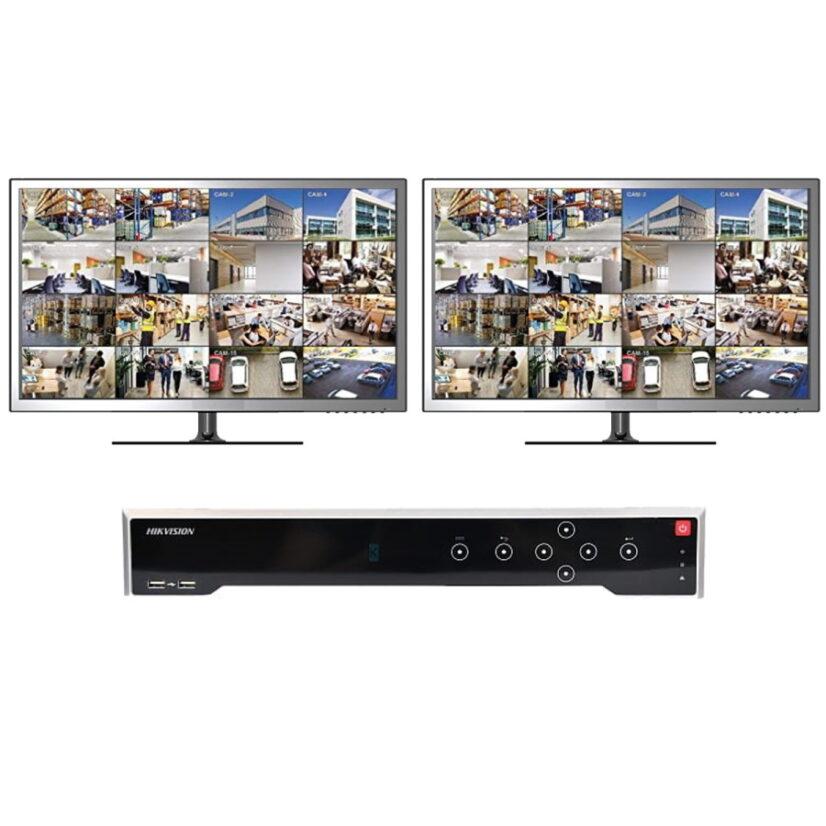 Videoopptakeren kan kobles til to skjermer med visning av samme kameraer (illustrasjonsbilde)