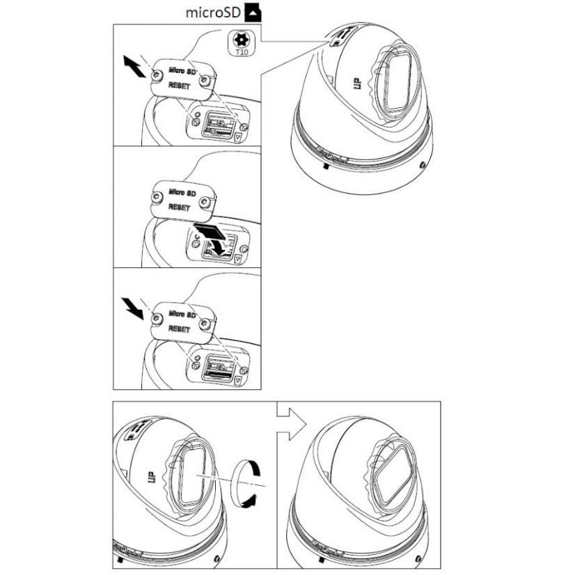 Kameraet kan ha et internt SD-kort for opptak av video i selve kameraet. En får tilgang til live video og opptak i appen i mobilen
