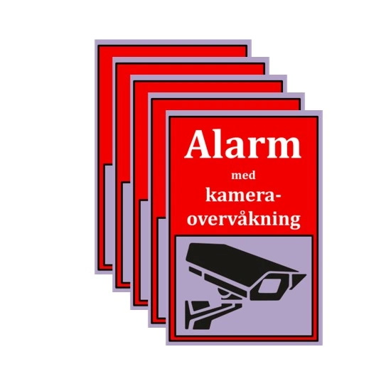 Systemet leveres med 5 alarmmerker JPG