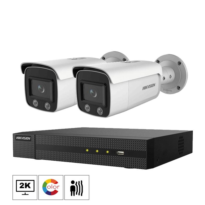 Hikvision Netcam kamera pakke 4 megapixel farge natt bilder DS-2CD2T47G1-L-2