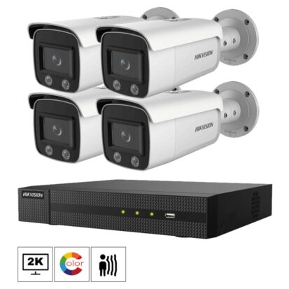 Hikvision Netcam kamera pakke 4 megapixel farge natt bilder DS-2CD2T47G1-L-4
