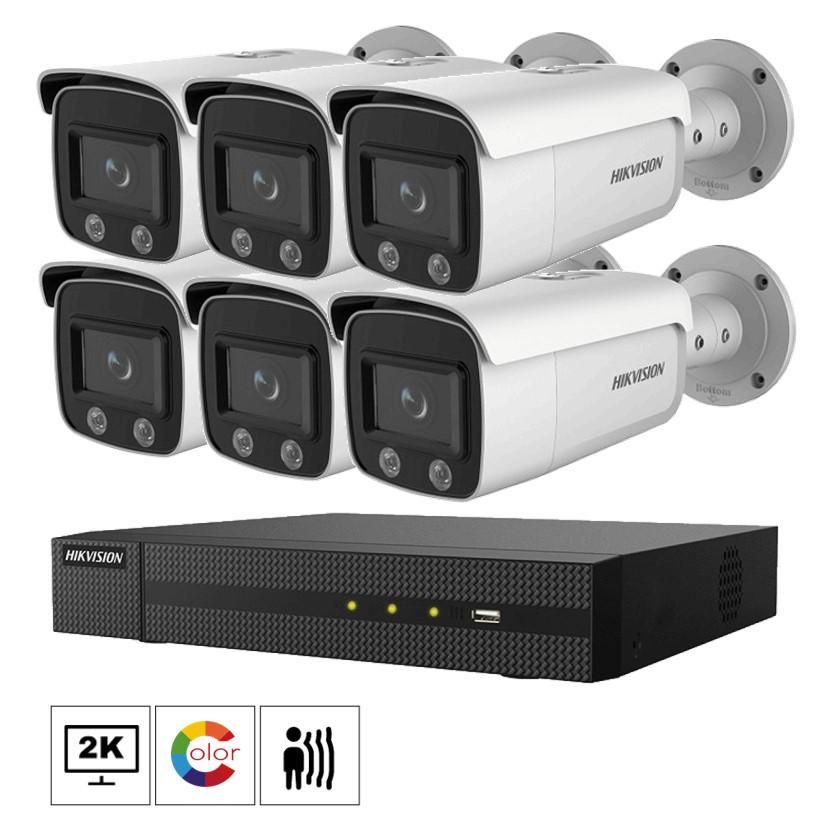 Hikvision Netcam kamera pakke 4 megapixel farge natt bilder DS-2CD2T47G1-L-6